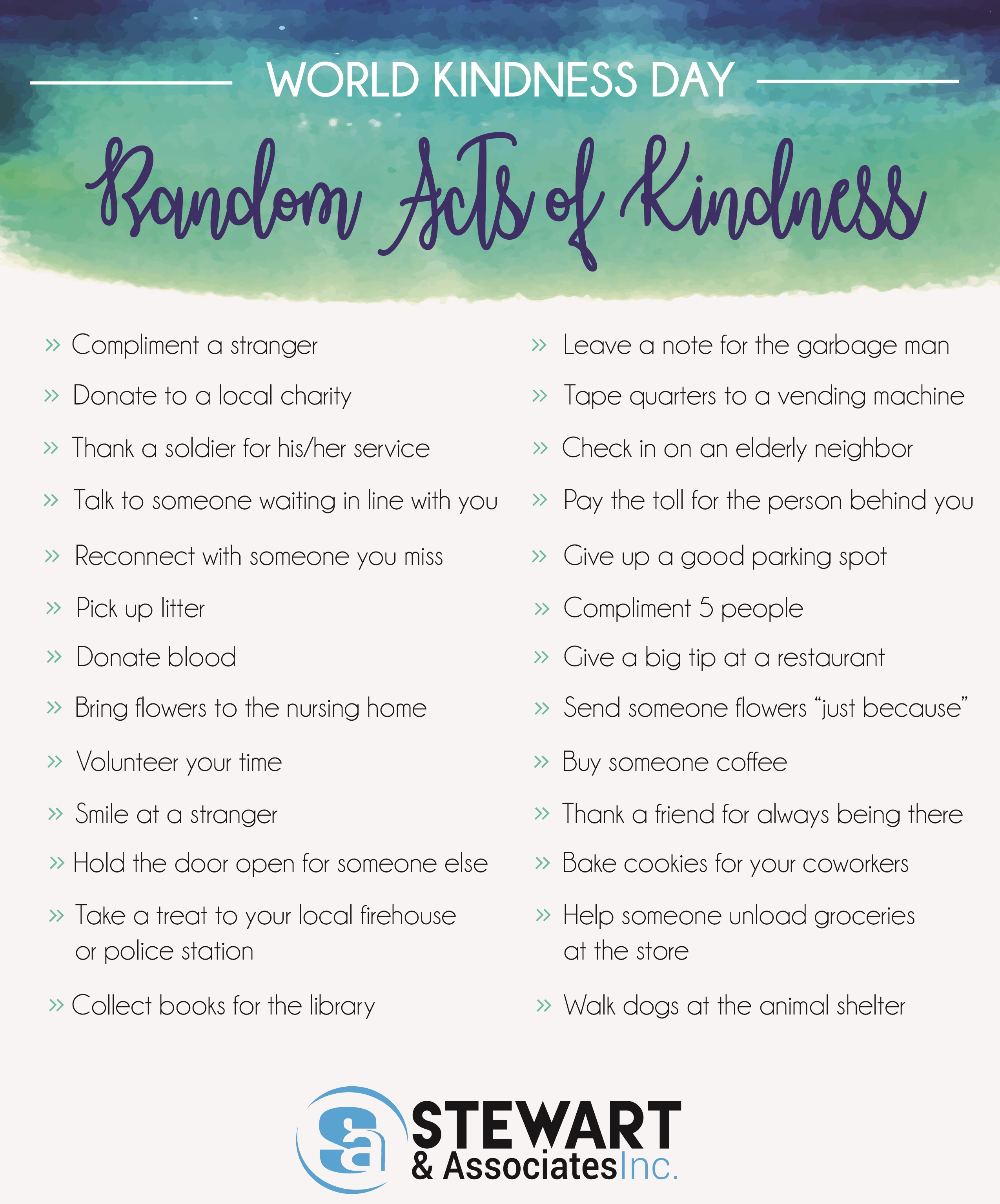 World Kindness Day Challenge- S&A
