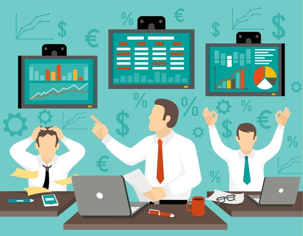 Stock Market Trader Illustration
